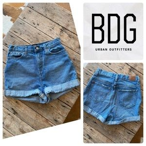 BDG Urban Outfitters Mom Denim Jean Shorts